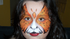 Cheetah Butterfly Face Painting