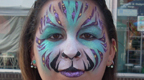 Exotic Tiger Face Painting
